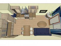 Кухня-гостиная площадью 16м2
