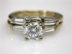 Vintage Wedding Ring Set -- neat idea for a set of rings.