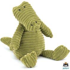 Deze vriendelijke en stoere ;krokodil ;in ;retro-look ;is gemaakt van heerlijk zachte ribstof en is geschikt voor eindeloos speel- en knuffelplezier. Kleur: groen.