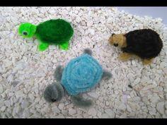 Como hacer una tortuga con limpiapipas - YouTube