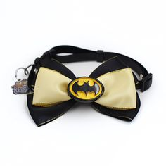happycattag - Batman cat Bow Tie, Designer Premium cat Bow Tie, Superhero cat Bowtie, Cat Dog Bow Tie Handcrafted High Quality Cotton Handmade Catbow Bowties Cat Kitten cat Accessories Collar Bow * Unbelievable cat item right here! : Cat Collar, Harness and Leash