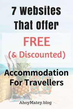 Looking for ways to save money on accomodation when you travel? From completely free stay options to home sharing and discounted hotel accommodations, this list of websites will help you save on your stay when you travel. Couple Travel, Family Travel, Travel Advice, Travel Guide, Travel Hacks, Travel Ideas, List Of Websites, Travel Light, Ways To Save Money