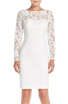 c53908b8877a0 Sue Wong Embroidered Mesh Sheath Dress available at #Nordstrom Mother Of  Groom Dresses, Mother