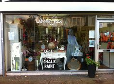 If you're looking where to buy Chalk Paint® furniture paint, look for your nearest Annie Sloan Stockist or 'retailer' in locations around the world. Annie Sloan Stockists, Shutter Doors, Chalk Paint Furniture, Visual Merchandising, Display Ideas, Vintage Shops, Window, Sea, Places