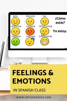 Are you looking for feelings activities for your Spanish classes? Practice activities for practicing emotions in Spanish class! Check out these resources for your novice middle school or high school Spanish classes. Reading, writing, listening & speaking activities are all included in this blog post to help you teach los sentimientos or feelings in Spanish! Great ideas for lesson plans as you teach feelings in Spanish to your secondary students! #spanishclass #secondaryspanish Feelings Activities, Class Activities, Spanish Classroom, Teaching Spanish, Class Routine, Middle School Spanish, Spanish Lesson Plans, Vocabulary Practice, Spanish 1