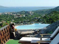 Villa Vista, from the terrace a stunning view to Costa Smeralda and the Islands - Porto Rotondo Villas, Terrace, Explore, Mansions, House Styles, Outdoor Decor, Holiday, Porto, Balcony