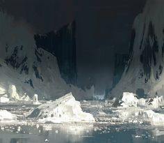 Back to the Ice Fields, Titus Lunter on ArtStation at http://www.artstation.com/artwork/back-to-the-ice-fields