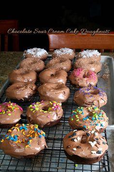 chocolate sour cream doughnuts