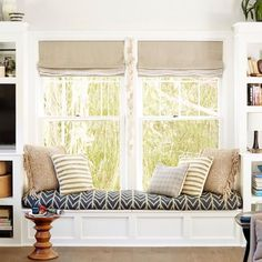 TESINTERIORS BLOG || Window Seats |Home office stylish nooks--image via EMILY HENDERSON