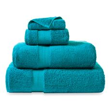Teal Towels to alternate against the zebra