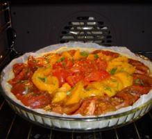 Recette - Tarte à la tomate moutardée maison - Notée 4.7/5 par les internautes