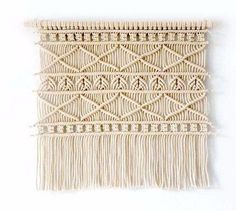 Greek Macrame Wall Hanging Handmade Tapestry