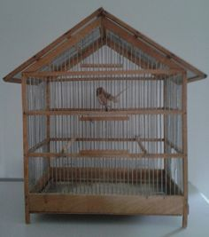 Old wooden bird cage.                       ~ Style By Gj *~
