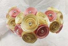 Wedding Paper Flowers  Paper Flower Bouquet  by FioriBelle on Etsy, $40.00