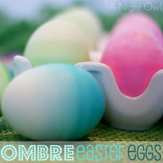 a night owl - easter - ombré easter eggs
