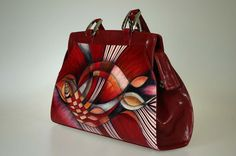 Painting Leather, Large Bags, Leather Backpack, Leather Handbags, Special Occasion, Backpacks, Shoulder Bag, Malachite, Venetian
