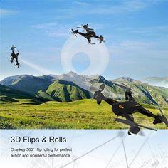 Foldable आरसी ड्रोन, Toytable XS809W स्मार्टफोन आरसी क्वाडकोप्टर Settable उड़ान ट्रैजेक्टर 2 एमपी कैमरा ड्रोन के साथ