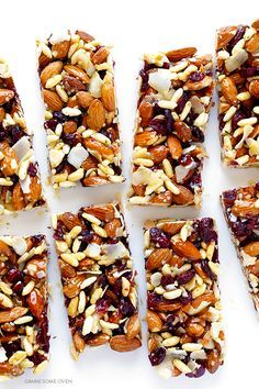 These cranberry almond protein bar are full of protein-packed ingredients, easy to make, naturally-gluten free, and absolutely delicious!