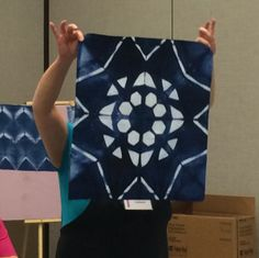Itajime shibori - workshop with Cindy Lohbeck. From A Daily Dose of Fiber