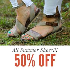 DON'T FORGET ALL SUMMER SHOES ARE NOW 50% OFF!!! 💘👡💘#justforyouthestockroom #boutique #shoplocal #knoxville #knoxrocks #865life #ilovelocalknoxville #reddotsale #sales #ss17 #whyknox #knoxvillelife