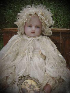 Pierotti wax doll  - Wachspuupe, *1880  46cm  - kompletter Originalzustand  Sammlung: Lommel