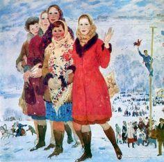 Ерофеев Василий Иванович (Россия, 1937) «Курские красавицы»
