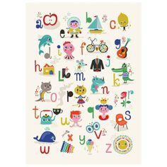Kidsdinge Helen Dardik ABC poster from www.kidsdinge.com #Speelgoed #Cadeautjes #Kinderkamer #Kids #Kinderkameraccessoires #Onlineshop #Brasschaat