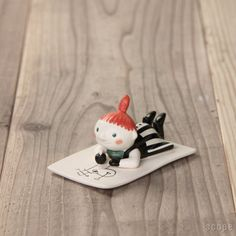 "my personal ""pippi longstocking"" as a lucky charm for my daily biz ;-)  Arabia Moomin"
