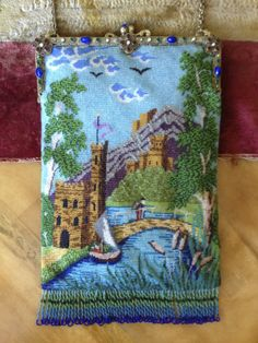 1920's German bead knit castle scenic purse. From the collection of Lori Blaser