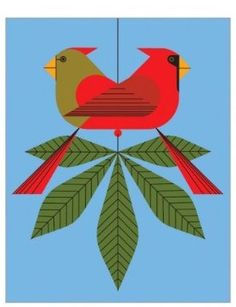 Sowing Clover: Charlie Harper. The blog from whence this came is gone. It's a strong and cheerful graphic. Cardinals.