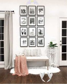 Shop this pic from @laurabeverlin  <br> Rooms Home Decor, Living Room Decor, White Faux Fur Rug, Wooden Hammock Stand, Family Photo Frames, Picture Frames, Diy Hammock, Inside Design, Home Furniture
