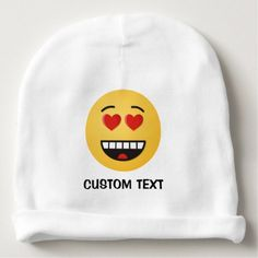Smiling Face with Heart-Shaped Eyes Baby Beanie - accessories accessory gift idea stylish unique custom
