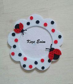 Kece cerceve magnet\felt frame  Kece_evim instagram