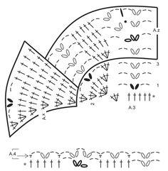 """Komplet DROPS: szal, czapka i mitenki na szydełku z wachlarzami, z włóczki """"BabyAlpaca Silk"""". ~ DROPS Design"""