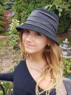 c59849a468d5c Cloche Wool Hat, Cloche Hat, Cloche Hat Vintage, Black Cloche, Black Wool