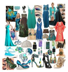 """""""PEACOCK INSPIRED~ DMF"""" by fashionndivas on Polyvore"""