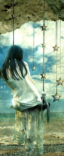 ..I'm can just swing  and swing like when I was a child and I love that the artist put it like this.. swinging in the stars.