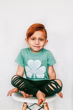 Kids St. Patrick's Day Shirt - Shamrock Shirt - St. Patty's Day Shirt - Boys St. Patricks Day Outfit - Hipster Toddler Clothes - Shamrock by PluckyMustard on Etsy https://www.etsy.com/listing/498446164/kids-st-patricks-day-shirt-shamrock