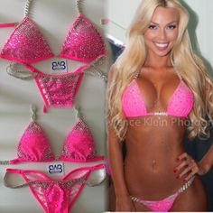 Hot pink Barbie Swag All different way. Competition bikini from waterbabiesbikini.com