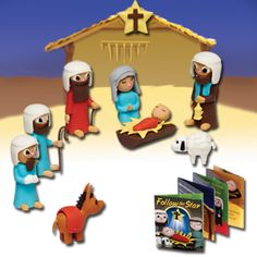Creatibles diy eraser kit nifty clay and craft christmas nativity set pull apart erasers for christians cta inc great for children solutioingenieria Choice Image