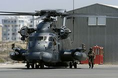 """USAF CH53 """"Jolly Green Giant"""" CSAR helicopter.  Fast and deadly."""