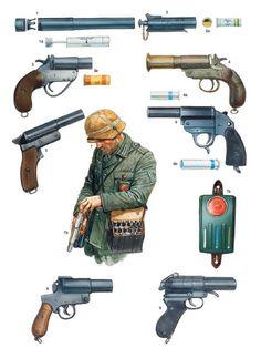 WWII Poster German Soldier uniform M24 grenade MG 34 gun grenade M42 camouflage