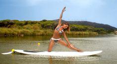 Surfboard yoga Pilates