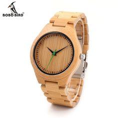 >> Click to Buy << BOBO BIRD Luxury Designer Full Wooden Bamboo Watches Men's Quartz Watch Japanese Movement Bamboo Strap Wristwatch in Gift Box #Affiliate