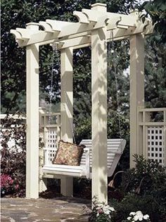 Nice looking Pergola and swing!