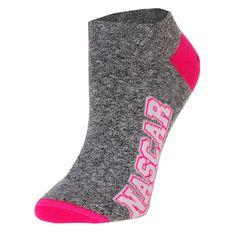 NASCAR Merchandise For Bare Feet Women's 529 Crew Socks - Gray/Pink