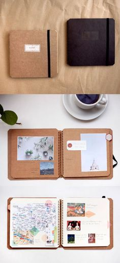Safeguard your memories! This Basic Spiral Scrapbook is perfect for making your trip everlasting!