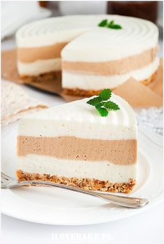 Sernik caffe latte - I Love Bake Whey Protein Drinks, Eating Eggs, Best Breakfast Recipes, Morning Food, Vanilla Cake, Oreo, Food And Drink, Sweets, Desserts