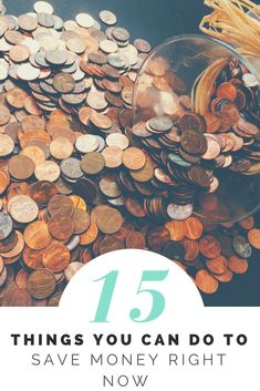 15 Things You Can Do RIGHT NOW To Save Money!   1. Call and cancel your cable! Subscribe to Netflix or Hulu instead! 2. Wash clothes on cold, I've been doing this for months and it has no impact on my laundry but definitely a small difference on my gas bill! 3. Hang them to...