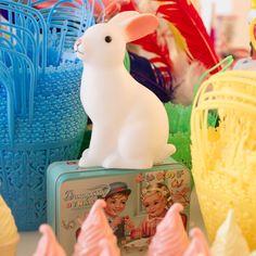Decoration - veilleuse lapin blanc vente accessoires et objets décoration enfants : My Little Bazar.